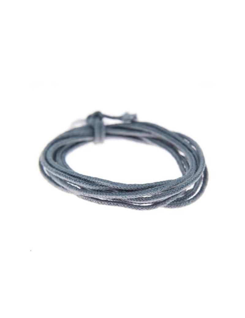 Fashion cord diamètre 0,8mm gris vendu au mètre