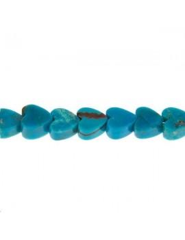 Turquoise cœur plat 6mm