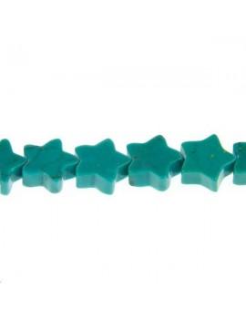 Turquoise naturelle étoile 8mm lot de 2 pièces