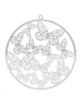 Filigrane cercle papillon 55mm 1 anneau
