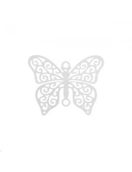 Filigrane papillon 20x16mm plaqué argent