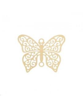 Filigrane papillon 20x16mm doré
