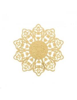 Filigrane rosace soleil 48mm doré