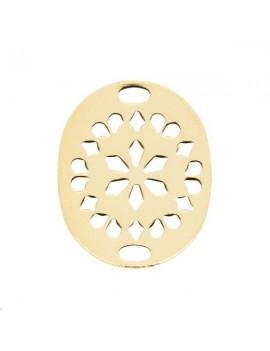 Filigrane oval 20x16mm 2 trous doré