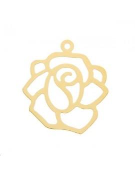 Filigrane fleur 19mm 1 anneau doré