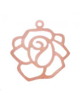 Filigrane fleur 19mm 1 anneau or rose