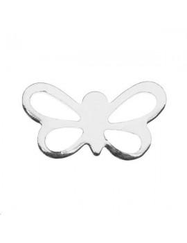Filigrane papillon 14x8mm plaqué argent
