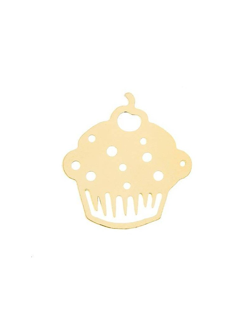 Filigrane cupcake 14x15mm doré