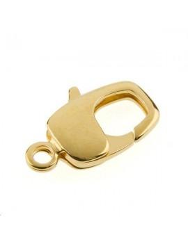 Fermoir mousqueton rectangulaire 20mm doré