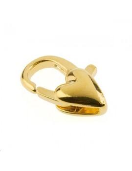 Fermoir fantaisie coeur 12mm doré