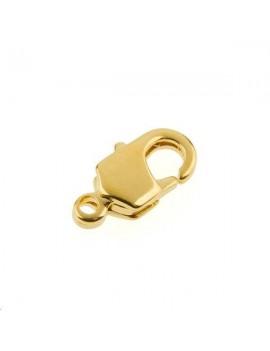 Fermoir mousqueton 10mm 1 anneau doré