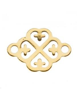 Trèfle 2 anneaux 12mm doré