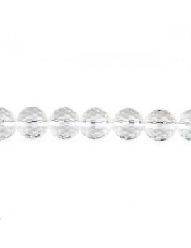 Cristal de roche rond facettes lot de 4 pièces