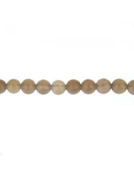 Agate ronde facettes 8mm grise lot de 4 pièces
