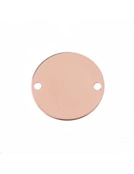 Disque 12mm 2 trous or rose