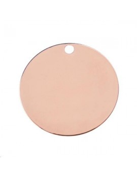 Pampille ronde 16mm 1 trou or rose
