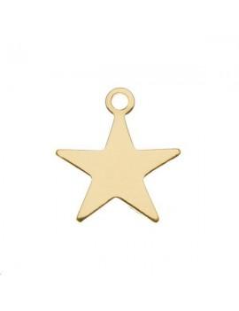 Pampille étoile 10mm 1 anneau doré