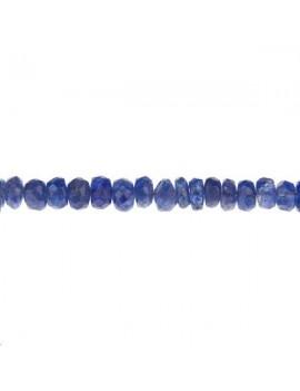Saphir rondelle facettes 2,5-4mm lot de 2cm (environ 6 perles)