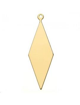 Pampille losange 40x13mm 1 anneau doré