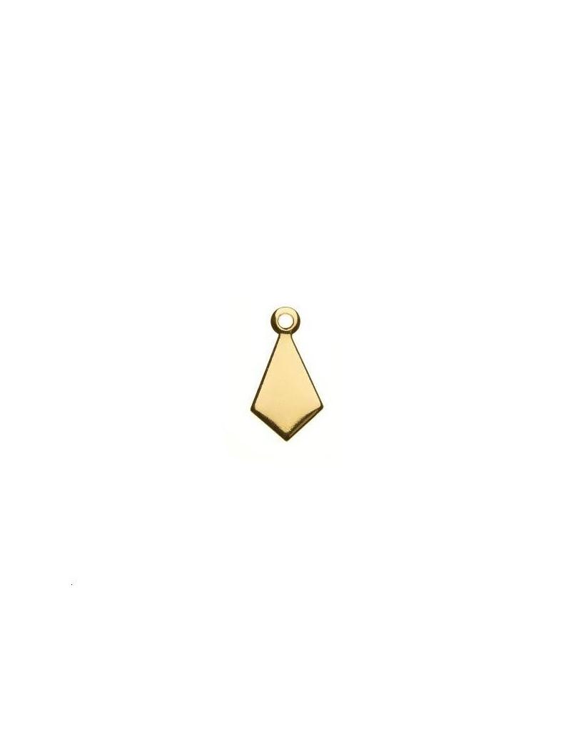 Pampille losange 13,5x7mm 1 anneau doré