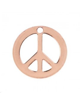 Peace and love 12mm 1 trou or rose