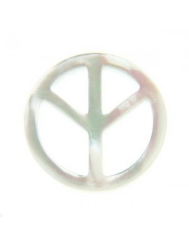 Nacre blanche peace and love