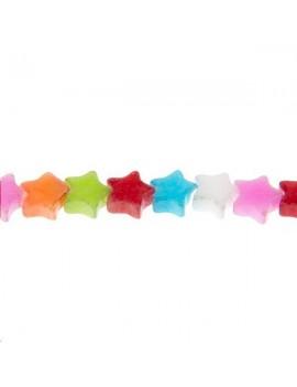 Calcite étoile 6mm multicolore lot de 5 pièces