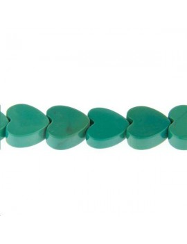 Turquoise coeur 8mm