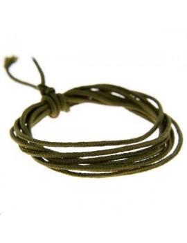Fashion cord diamètre 0,8mm kaki vendu au mètre