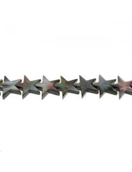Nacre étoile trou passant 19mm vendue par rang de 40cm