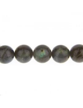Labradorite ronde 12mm vendue par rang de 40cm