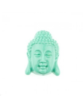 Bouddha serein bambou corail 15x20mm