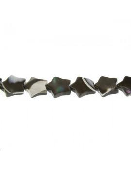 Nacre noire étoile 10mm vendue par rang de 40cm