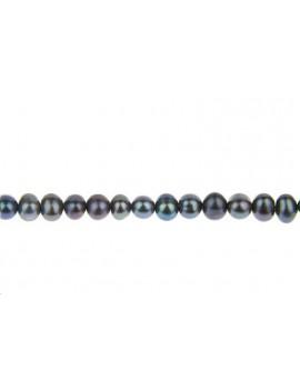 Perles de culture potato 4,5mm paon vendue par rang de 40cm
