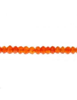 Cornaline rondelle facettes 3-4mm vendue par rang de 40cm