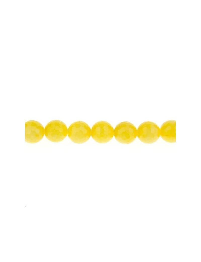 Agate teintée facettes 12mm jaune lot de 2 pièces