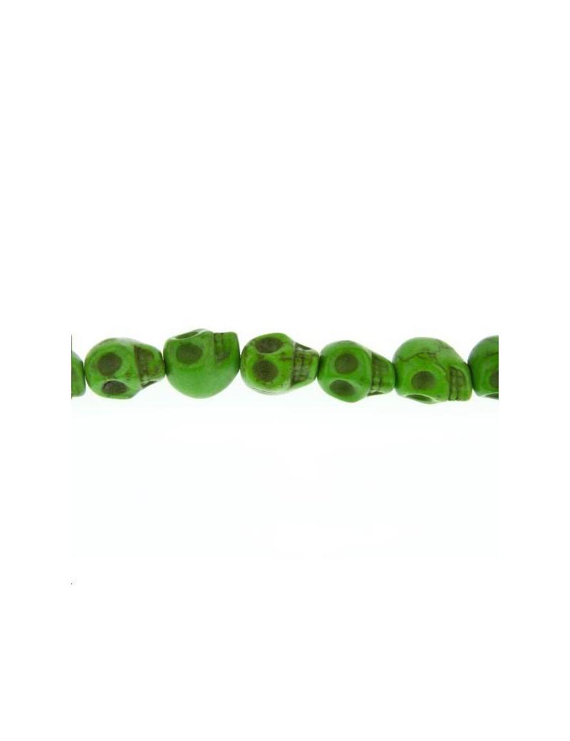 Howlite teintée tête de mort 10mm lot de 1 pièce
