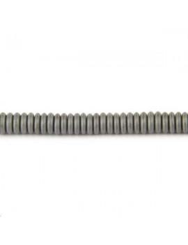 Hématite rondelle heishi 6x1,2mm vendue par rang de 40cm