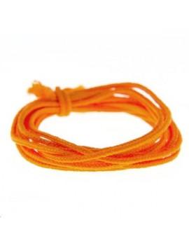 Fashion cord diamètre 0,8mm orange fluo vendu au mètre