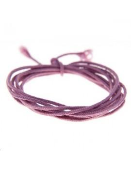 Fashion cord diamètre 0,8mm parme vendu au mètre