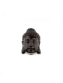 Bouddha serein bambou corail 10x15mm