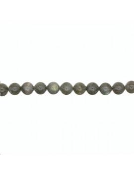 Labradorite ronde 3-4mm grade AB vendue par rang de 40cm