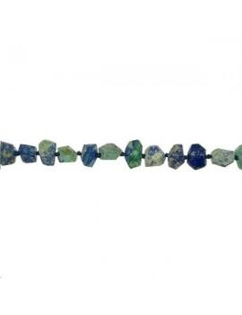 Azurite malachite caillou facetté 8-12mm grade A vendue par rang de 40cm