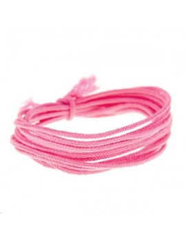 Fashion cord diamètre 0,8mm rose fluo vendu au mètre