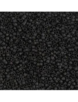 Delica Miyuki 11/0 matte black vendue par dose d'environ 8gr