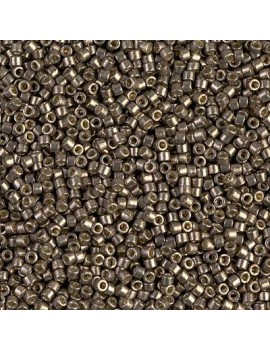 Delica Miyuki 11/0 duracoat galvanized pewter vendue par dose d'environ 4gr