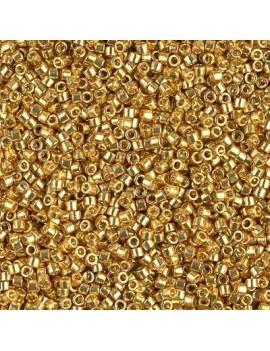 Delica Miyuki 8/0 duracoat galvanized gold