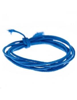 Fashion cord diamètre 0,8mm bleu canard vendu au mètre