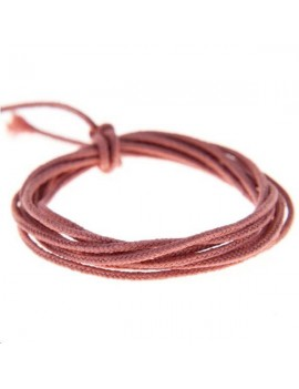 Fashion cord diamètre 0,8mm saumon vendu au mètre