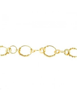 Chaîne fantaisie anneaux alternés 12mm